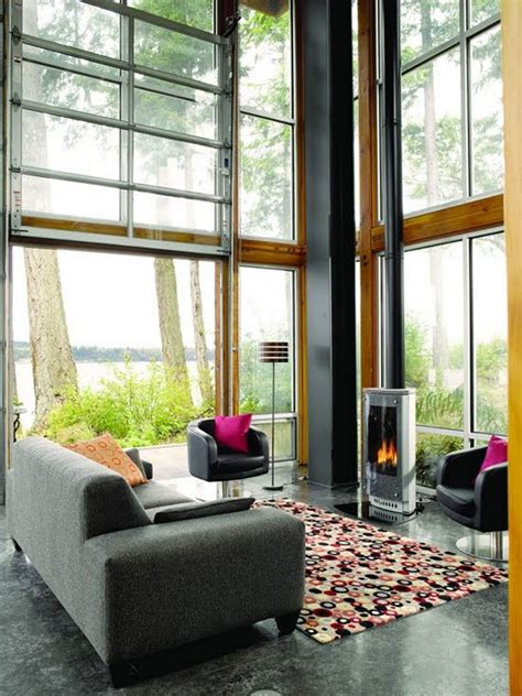 Roll Up Garage Doors With Windows Bedroom Design Glass House Design Wallpaper