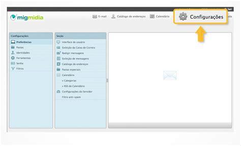Cadastrar Email Cadastrar Endere 231 O De E Mail Alternativo Webmail Ajuda