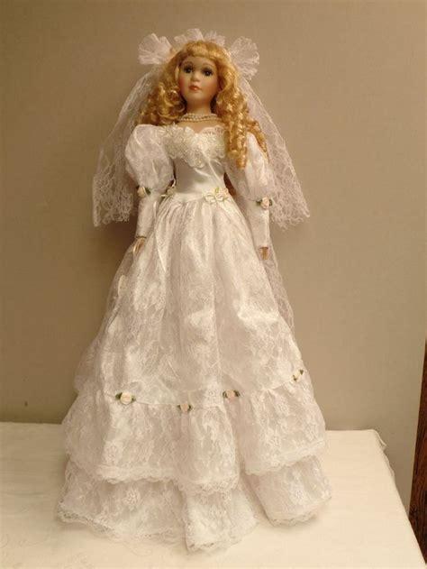 k s collection porcelain dolls hamilton house collection porcelain bridal doll 26