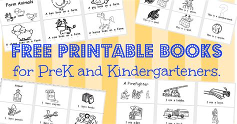 book printouts rumpus school house printable books pk k