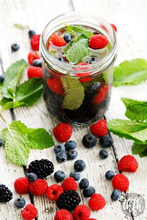 fresh berry  mint spa water  healthy family  home