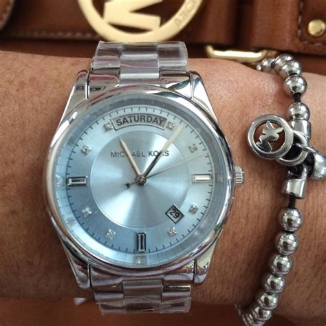 33% off Michael Kors Accessories   Michael Kors Watch Light Blue Face Silver Band from ! emy's
