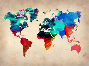 Watercolor World Map by World Map Painting Bing Images