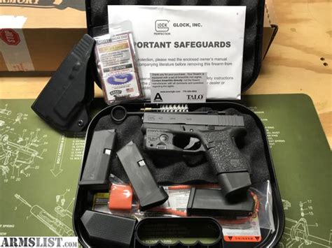 glock 43 laser light combo armslist for sale trade glock 43 talo edition w tlr6