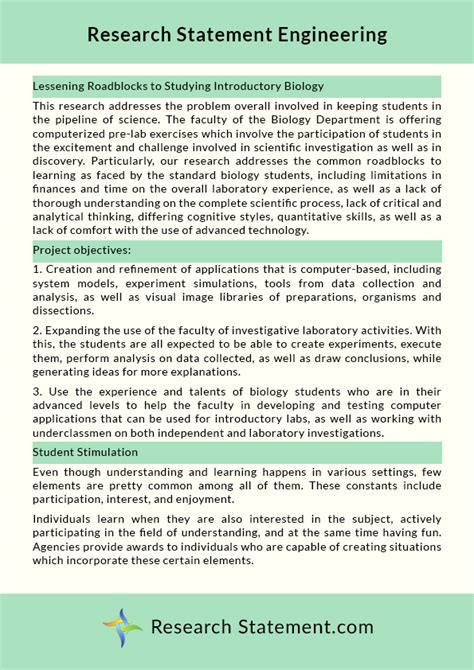 engineering thesis exle exle of thesis paper statement of the problem