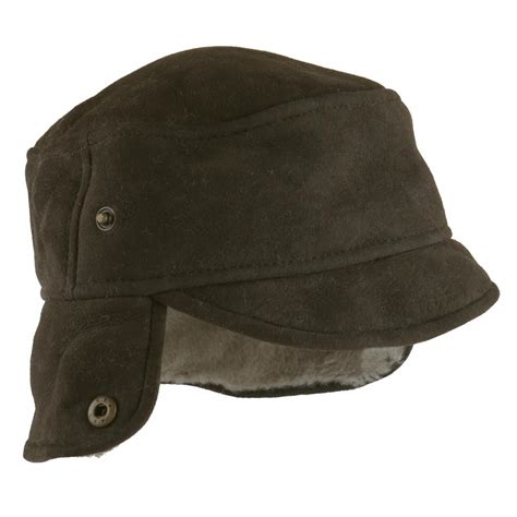 Trapper Hat mens vizon suede trapper hat caxton design