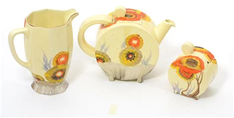 teapot ls for sale tennants auctioneers a clarice cliff rhodanthe pattern