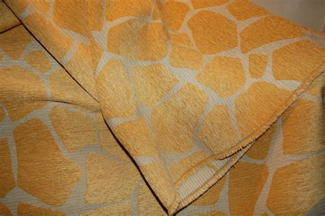 Giraffe Print Upholstery Fabric by Giraffe Oro Animal Print Upholstery Fabric By Pinktique On
