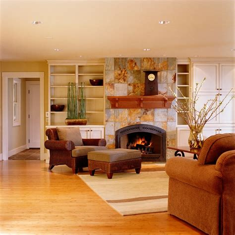 decorated family rooms marceladick com beautiful fireplace settings traditional family room