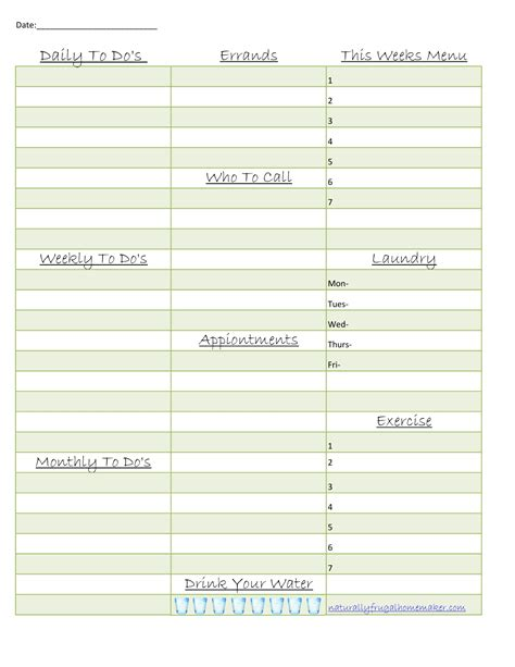 household planner naturally frugal homemaker my weekly household planner