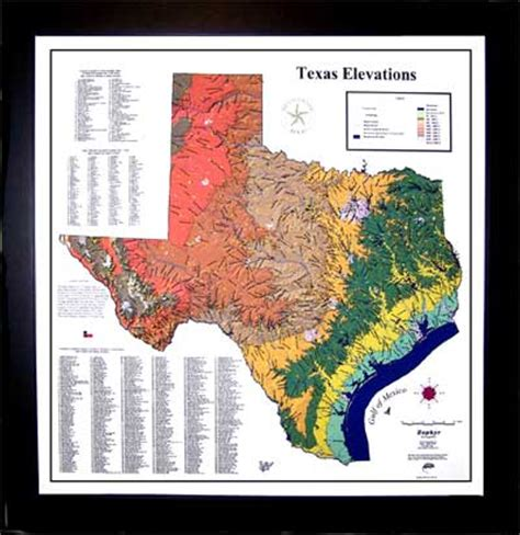 elevation map texas zephyr graphic texas elevations map