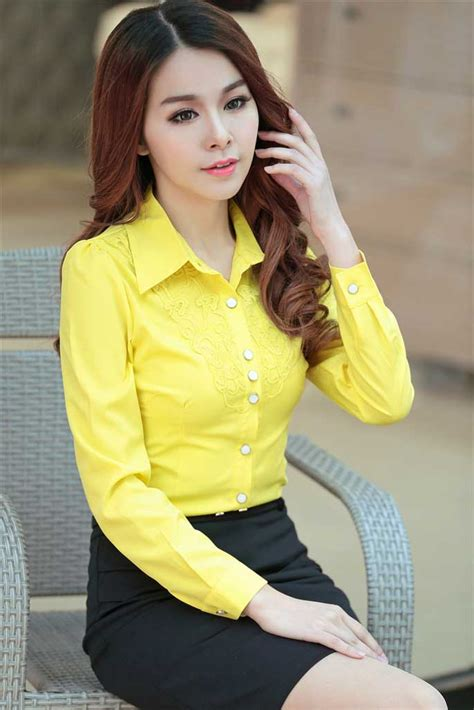 Babydoll Blouse Pink Kuning Atasan Baju Korea Wanita Kekinian Xl Jumbo kemeja wanita cantik warna kuning korea jual model terbaru murah
