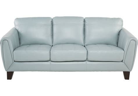 Aqua Sofa by Livorno Aqua Leather Sofa Leather Sofas Blue