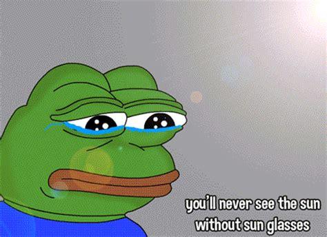 Green Man Meme - sad animated gif