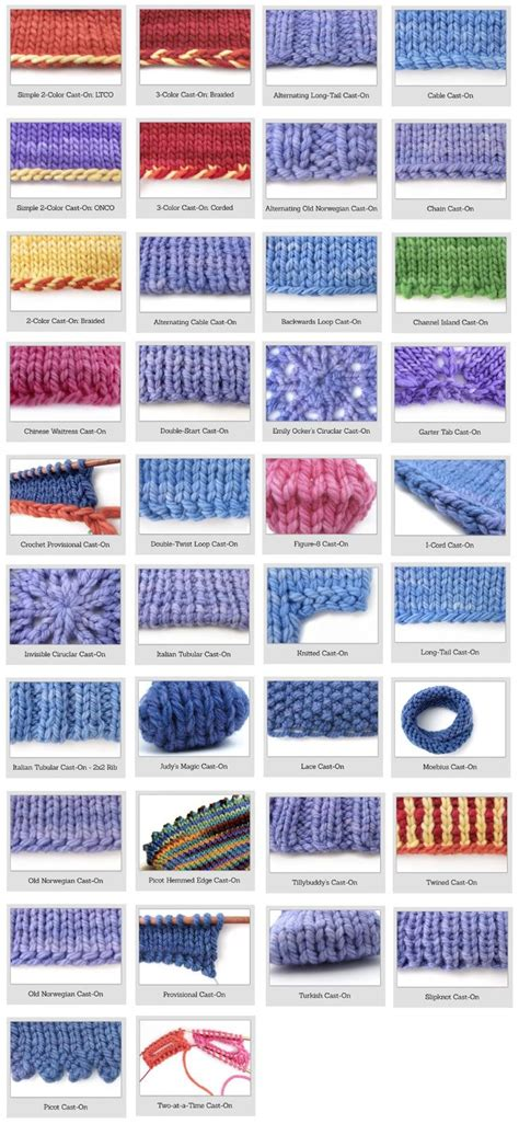 forms of knitting 17 best ideas about to cast on knitting