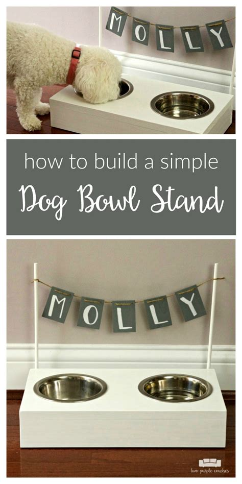 remodelaholic diy dog food bowl stand for small pups diy dog bowl stand two purple couches