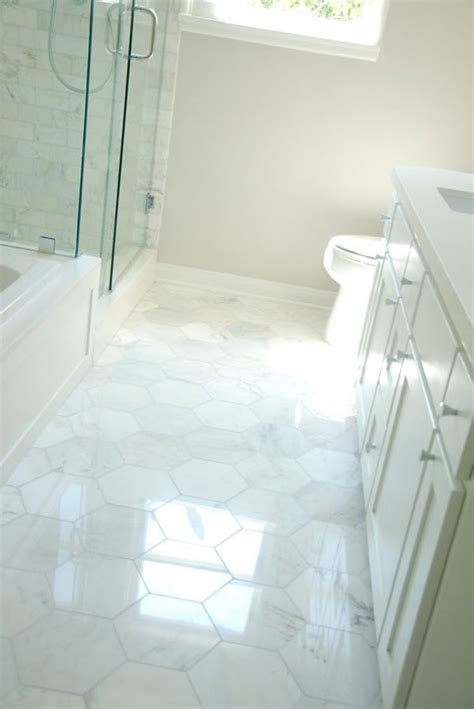 white hexagon tile bathroom 34 white hexagon bathroom floor tile ideas and pictures