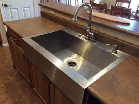 kohler stainless steel farmhouse sink kohler vault farmhouse apron front stainless steel 36 in