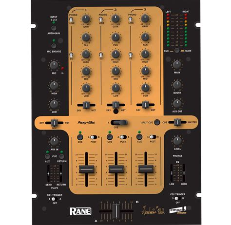Rane Rack Mixer by Rane Pro Dj Gmf 3 Channel 10 Quot Format Mobile Club Rack Mount Mixer Grandmaster Flash Gold