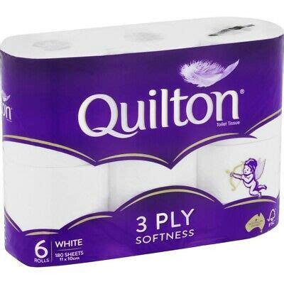 quilton white toilet tissue  pack ebay