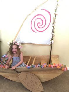 moana boat photo prop my husband made this moana boat for her 5th birthday