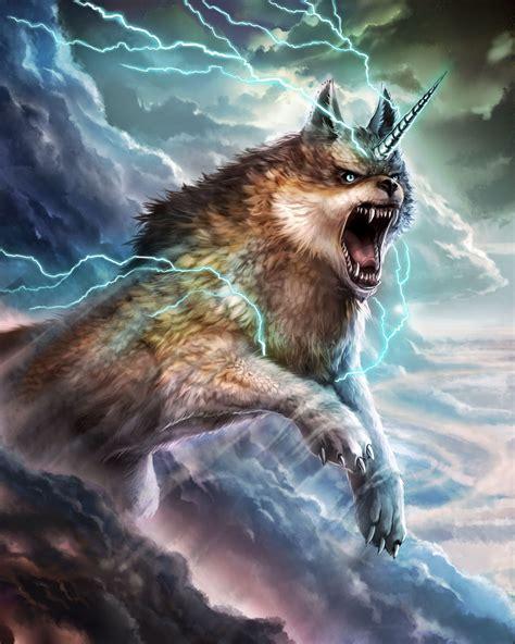 badasss wolf with unicorn horn by yohanpower on DeviantArt