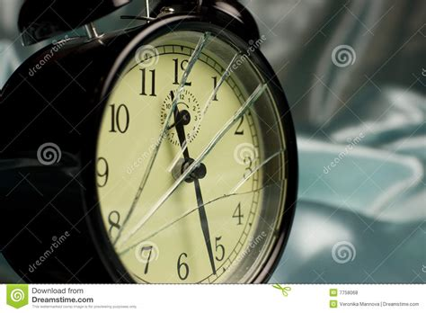broken alarm clock royalty free stock photos image 7758068