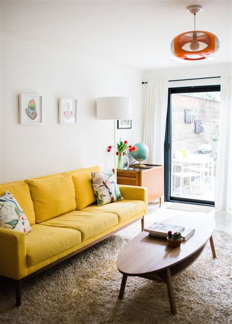 interior design sofas living room white living room interior design ideas with yellow sofa