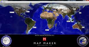 World Clock Map by Map Maker Sun Clock The Application Allows You To View