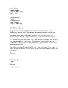 Sle Of Business Letter Sales Letter For Landscaping Business Word 2003
