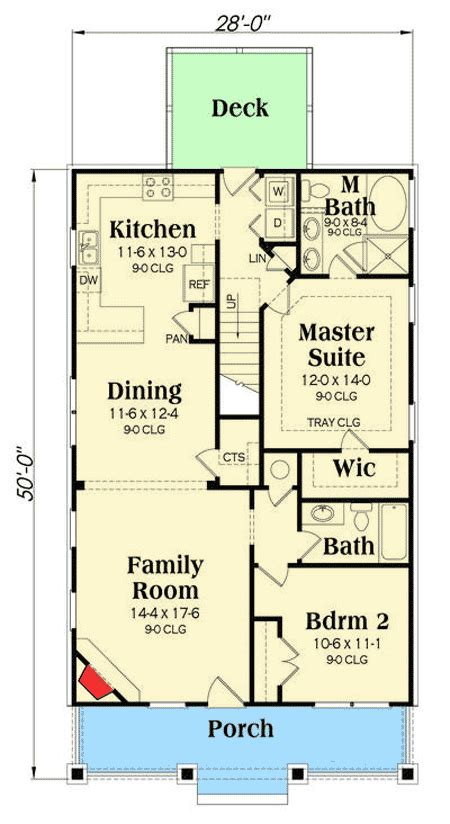 narrow lot cottage house plan 9818sw architectural narrow lot cottage 75532gb architectural designs