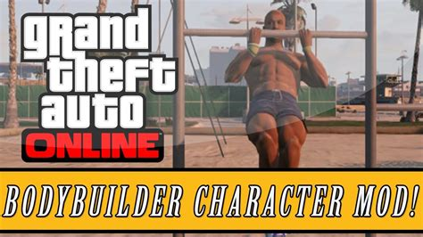 mod gta 5 character gta 5 new modded quot bodybuilder quot character skin gameplay