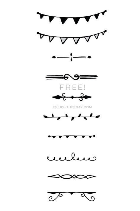 freebie  hand drawn decorative dividers