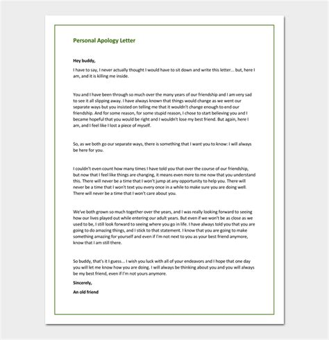 apology letter template 33 sles exles formats