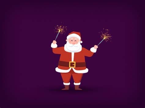 happy santa claus  brazilero animation studio dribbble dribbble