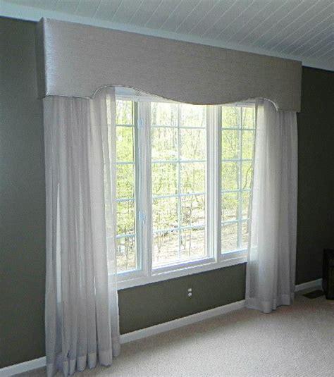 idea cornice cornice board and sheer panels window treatments