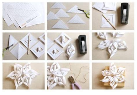 paper snowflake flower tutorial how to make super pretty origami paper craft flowers step