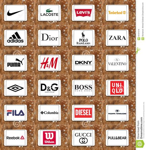 What Makes A Clothing Brand - clothing brands and logos editorial stock image image of