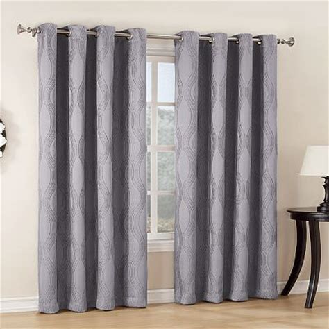 kohls blackout curtains home classics 174 mercury jacquard blackout window panel 52
