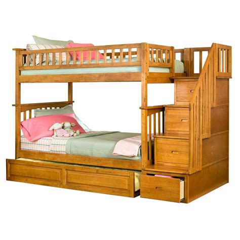 on bunk beds with stairs bunk bed with trundle furniture ideas