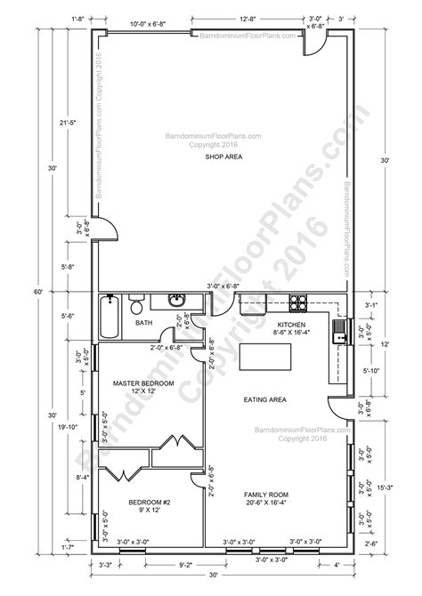 Home Shop Plans by Barndominium Floor Plans For Planning Your Barndominium