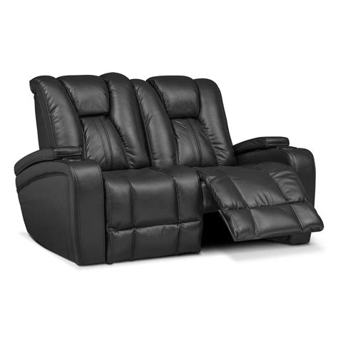 dual power reclining sofa pulsar dual power reclining loveseat black value city