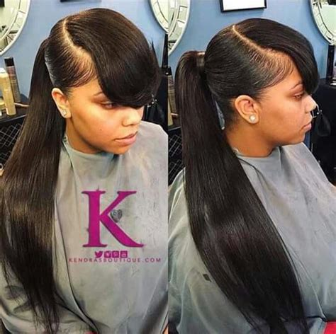 swoop ponytail hairstyles dope swoop bang with ponytail pictures to pin on pinterest
