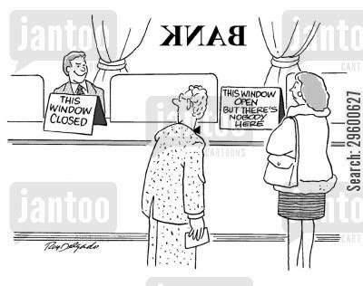 bank für bad bad customer service humor from jantoo