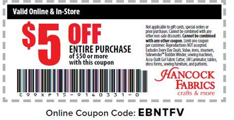 free printable hancock fabric coupons hancock fabrics printable coupons february 2015