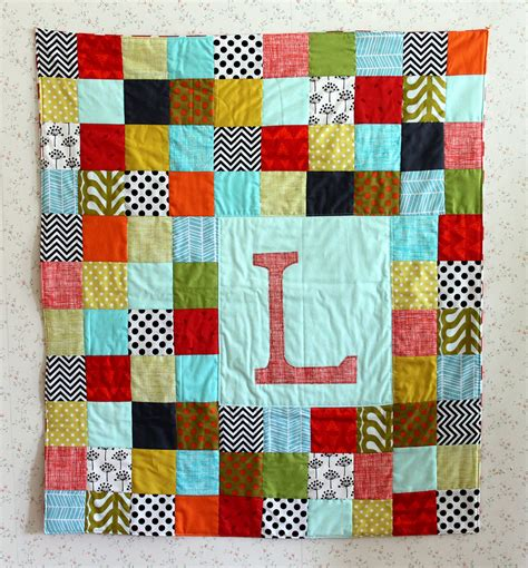 Easy Patchwork Quilt Patterns - maureen cracknell handmade a patchwork letter baby quilt