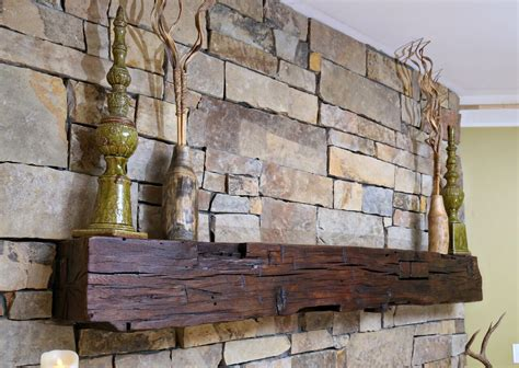 Reclaimed Fireplace Mantel by Hewn Beam Custom Cut Length Southern Vintage