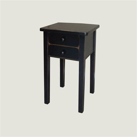 end table with 2 drawers true