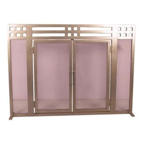 Fireplace Screens At Home Depot by Uniflame Bronze Single Panel Fireplace Screen S 1642 The