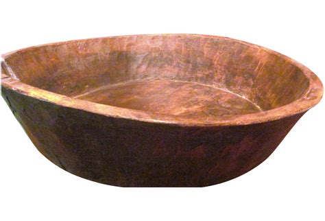 Antique Wooden Bowls Handmade - large antique handmade bowl from morocco omero home